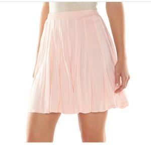 LC Lauren Conrad blush Pieced Skater Skirt s NWT